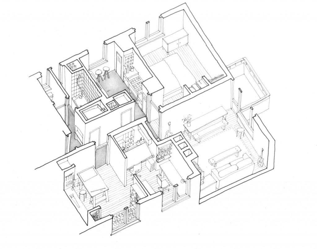 Illustration of H&R Live Work Studio, by Richard Brown